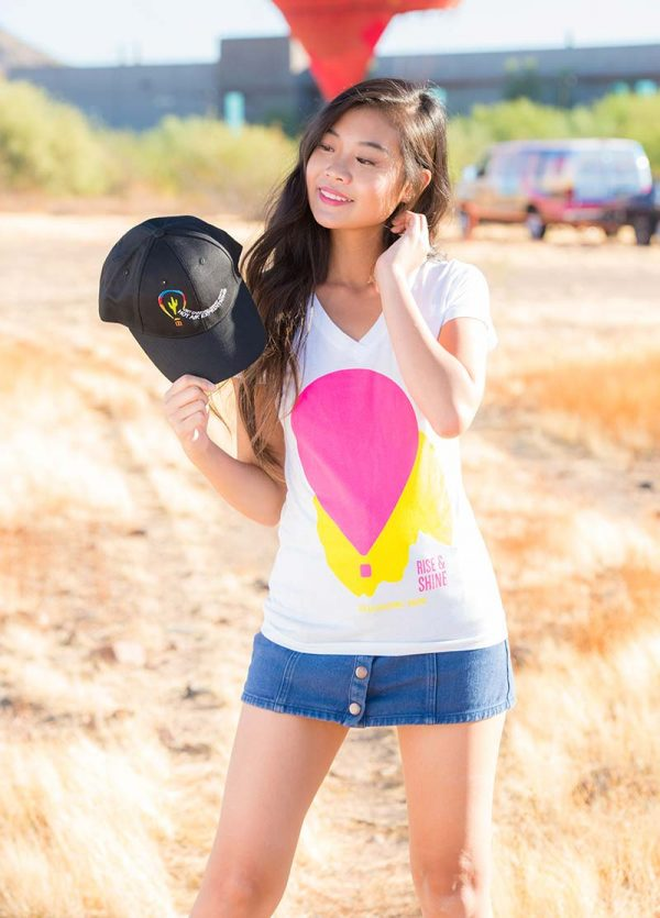 Hot Air Expeditions Embroidered Logo Hat - Girl Holding