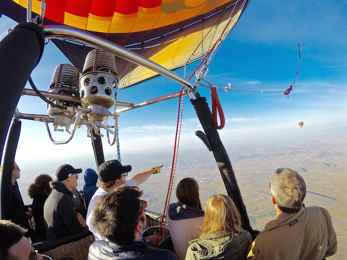 Group Hot Air Balloon Rides - Captain Chad with passengers 2017