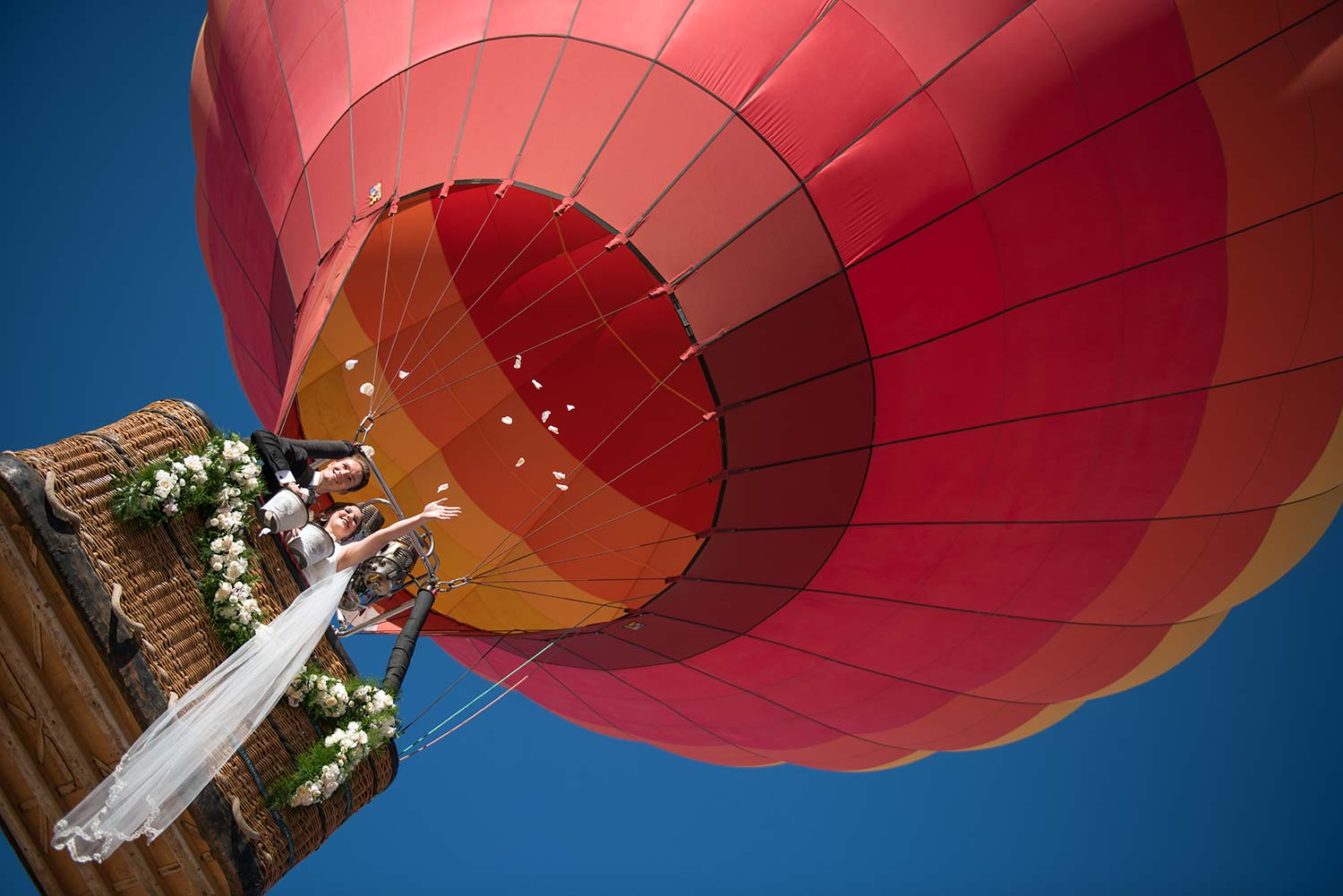 Hot Air Balloon Weddings - Formal Rose Petal Toss