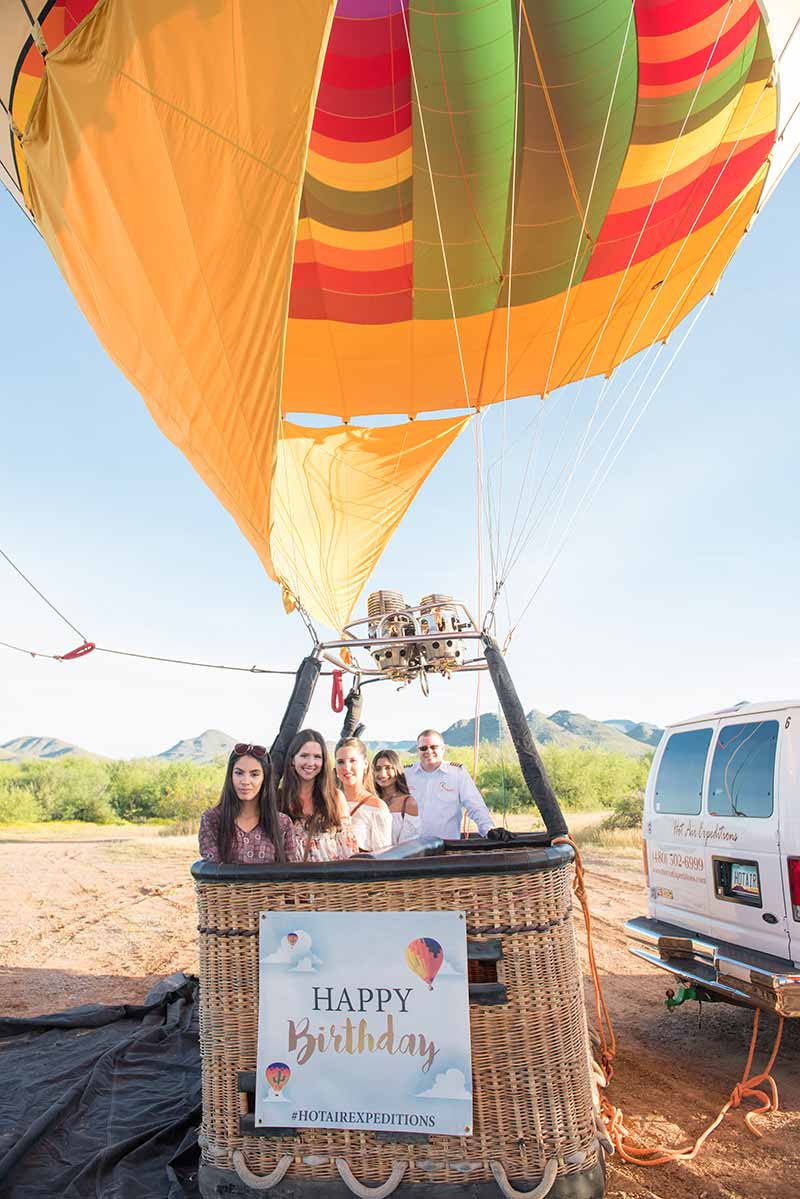 Celebrate Your Birthday on a Hot Air Balloon Ride!
